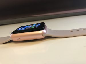 Apple watch with popped screen